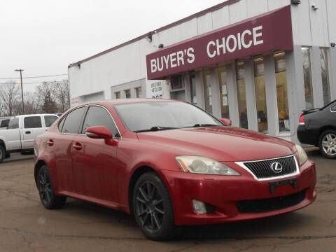 2010 Lexus IS 250 for sale at Buyers Choice Auto Sales in Bedford OH