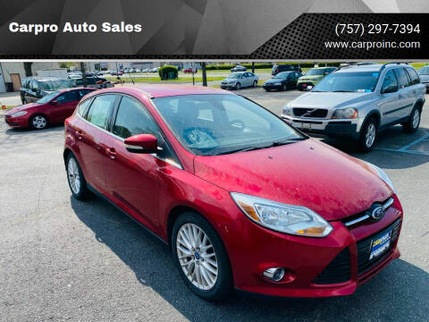 2012 Ford Focus for sale at Carpro Auto Sales in Chesapeake VA