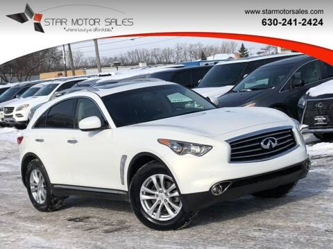 2013 Infiniti FX37 for sale at Star Motor Sales in Downers Grove IL