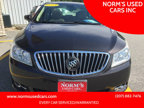 2013 Buick LaCrosse for sale at NORM'S USED CARS INC in Wiscasset ME