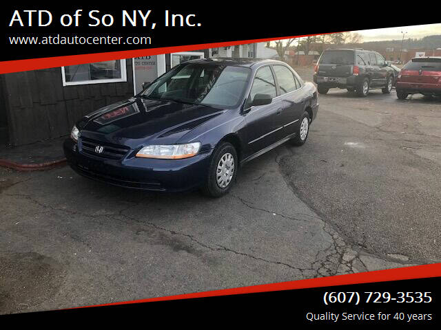 2002 Honda Accord for sale at ATD of So NY, Inc. in Johnson City NY