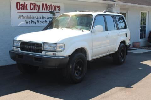 1992 Toyota Land Cruiser for sale at Oak City Motors in Garner NC
