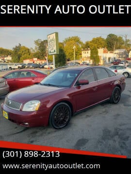 2006 Mercury Montego for sale at SERENITY AUTO OUTLET in Frederick MD