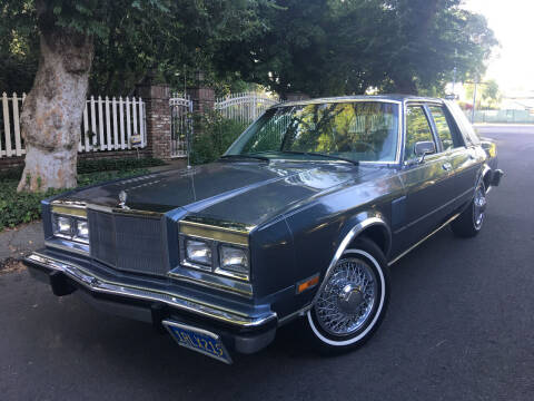 1986 Chrysler Fifth Avenue for sale at Valley Coach Co Sales & Lsng in Van Nuys CA