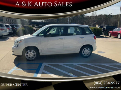 2014 FIAT 500L for sale at A & K Auto Sales in Mauldin SC