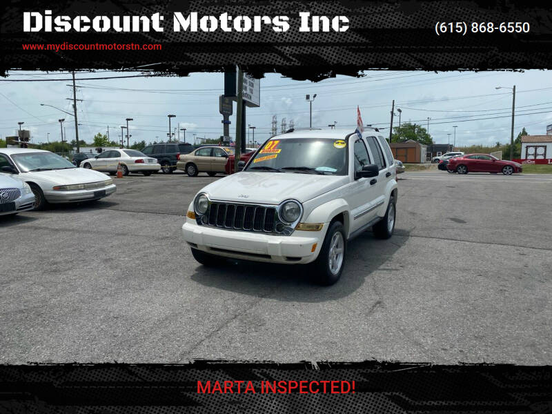 2007 Jeep Liberty for sale at Discount Motors Inc in Madison TN