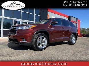 2016 Toyota Highlander Hybrid for sale in Purvis, MS