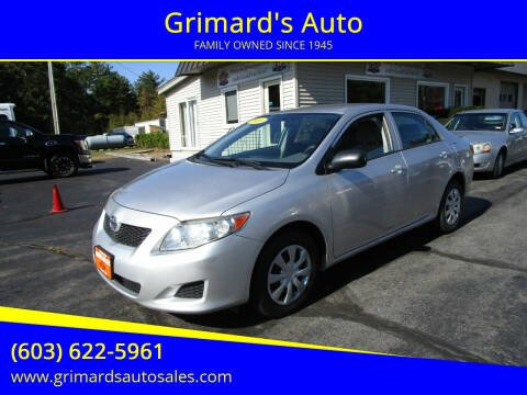 2010 Toyota Corolla for sale at Grimard's Auto in Hooksett NH
