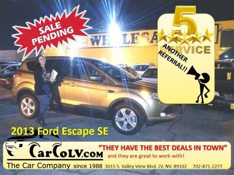 2013 Ford Escape for sale at The Car Company in Las Vegas NV