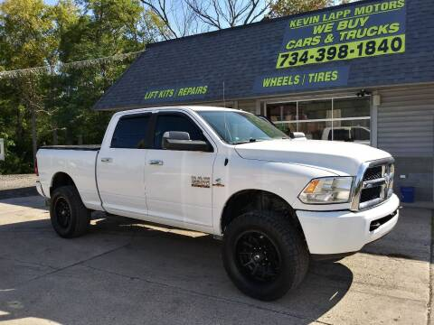2014 RAM Ram Pickup 2500 for sale at Kevin Lapp Motors in Flat Rock MI