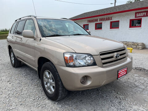 2005 Toyota Highlander for sale at Sarpy County Motors in Springfield NE