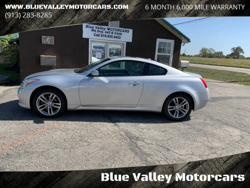 2009 Infiniti G37 Coupe for sale at Blue Valley Motorcars in Stilwell KS