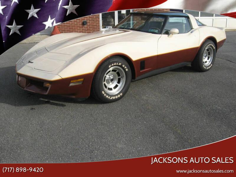 1981 Chevrolet Corvette for sale at Jacksons Auto Sales in Landisville PA