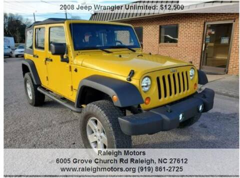 2008 Jeep Wrangler Unlimited for sale at Raleigh Motors in Raleigh NC