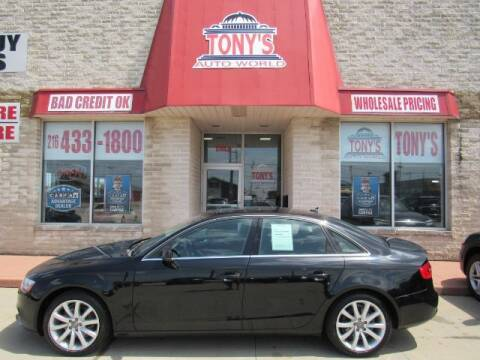 2013 Audi A4 for sale at Tony's Auto World in Cleveland OH