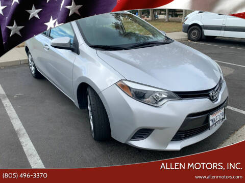 2015 Toyota Corolla for sale at Allen Motors, Inc. in Thousand Oaks CA