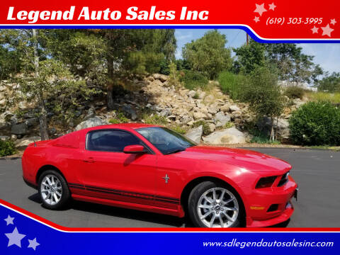 2010 Ford Mustang for sale at Legend Auto Sales Inc in Lemon Grove CA