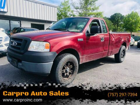2005 Ford F-150 for sale at Carpro Auto Sales in Chesapeake VA