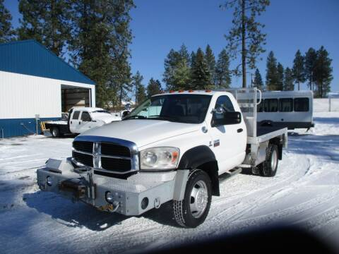 2009 Dodge Ram 5500 4x4 Flatbed for sale at BJ'S COMMERCIAL TRUCKS in Spokane Valley WA
