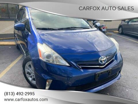2013 Toyota Prius v for sale at Carfox Auto Sales in Tampa FL