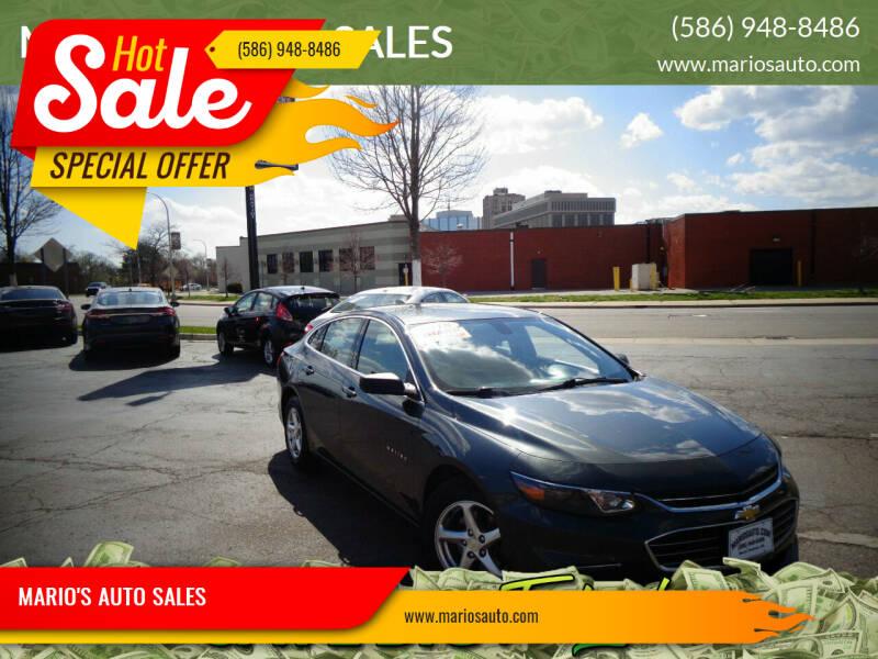 2018 Chevrolet Malibu for sale at MARIO'S AUTO SALES in Mount Clemens MI