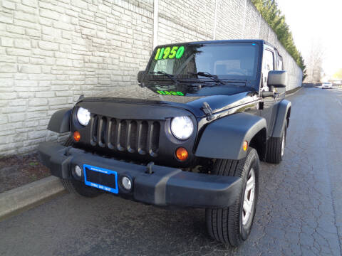 2010 Jeep Wrangler for sale at Matthews Motors LLC in Algona WA