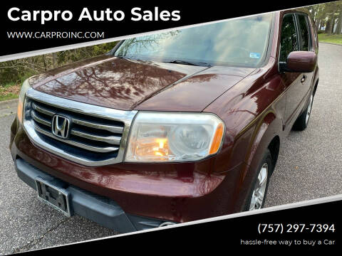 2012 Honda Pilot for sale at Carpro Auto Sales in Chesapeake VA