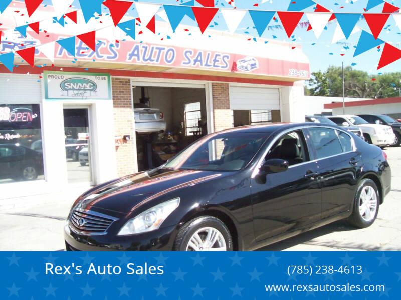 2013 Infiniti G37 Sedan for sale at Rex's Auto Sales in Junction City KS