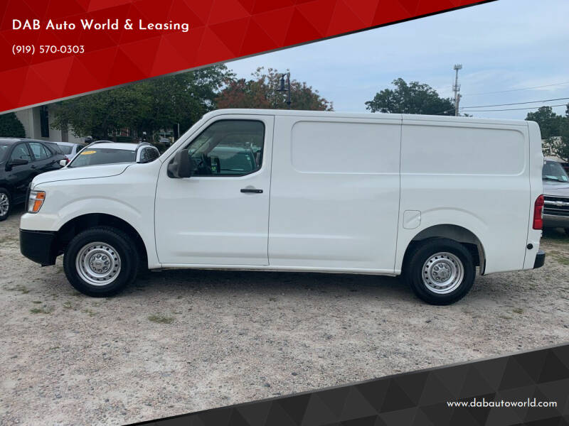 2017 Nissan NV Cargo for sale at DAB Auto World & Leasing in Wake Forest NC