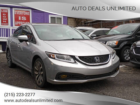 2015 Honda Civic for sale at AUTO DEALS UNLIMITED in Philadelphia PA