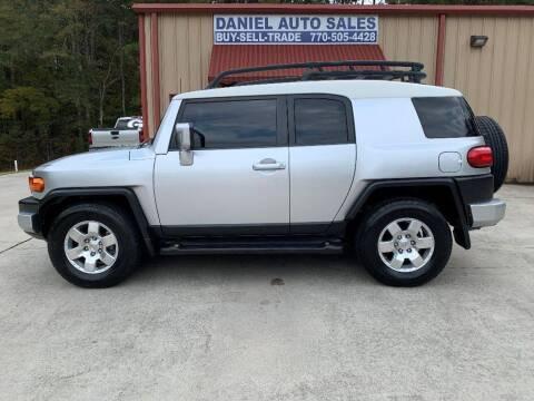 2008 Toyota FJ Cruiser for sale at Daniel Used Auto Sales in Dallas GA