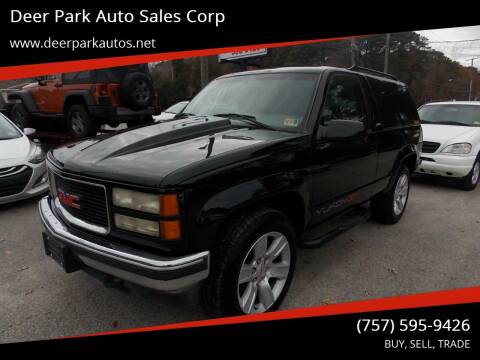 1995 GMC Yukon for sale at Deer Park Auto Sales Corp in Newport News VA