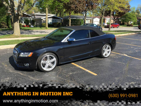 2012 Audi S5 for sale at ANYTHING IN MOTION INC in Bolingbrook IL