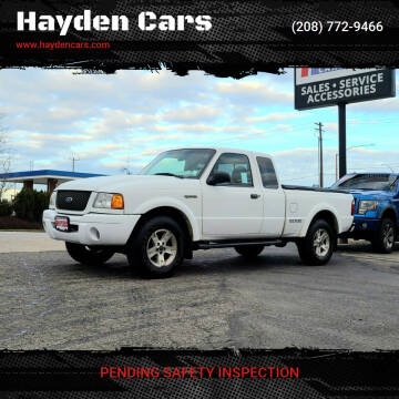 2002 Ford Ranger for sale at Hayden Cars in Coeur D Alene ID