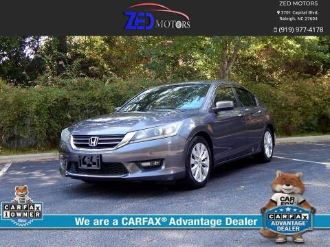 2014 Honda Accord for sale at Zed Motors in Raleigh NC