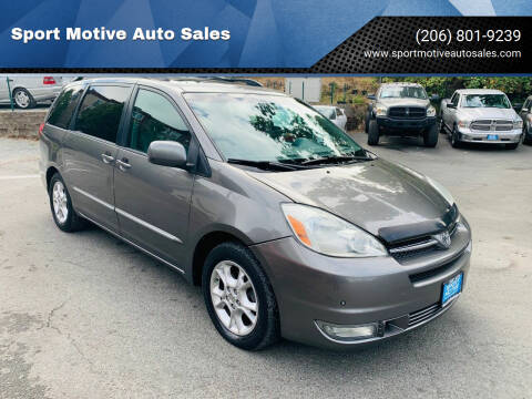 2005 Toyota Sienna for sale at Sport Motive Auto Sales in Seattle WA