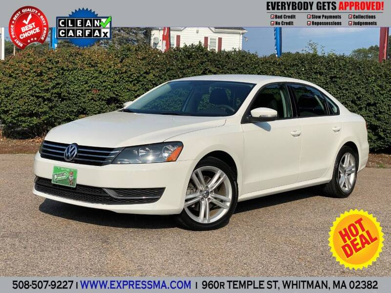 2013 Volkswagen Passat for sale at Auto Sales Express in Whitman MA