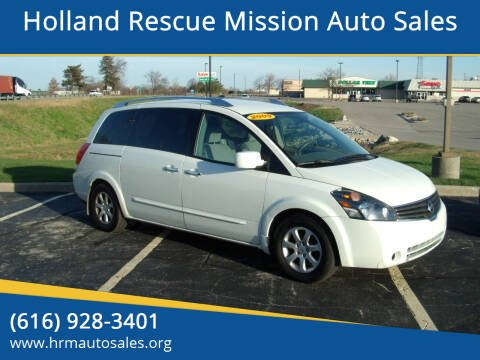 2009 Nissan Quest for sale at Holland Rescue Mission Auto Sales in Holland MI