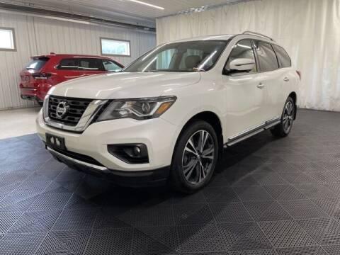 2018 Nissan Pathfinder for sale at Monster Motors in Michigan Center MI