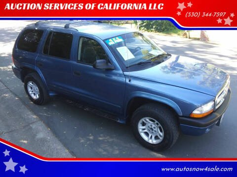 2003 Dodge Durango for sale at AUCTION SERVICES OF CALIFORNIA in El Dorado CA