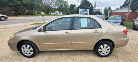 2005 Toyota Corolla for sale at W & D Auto Sales in Fayetteville NC