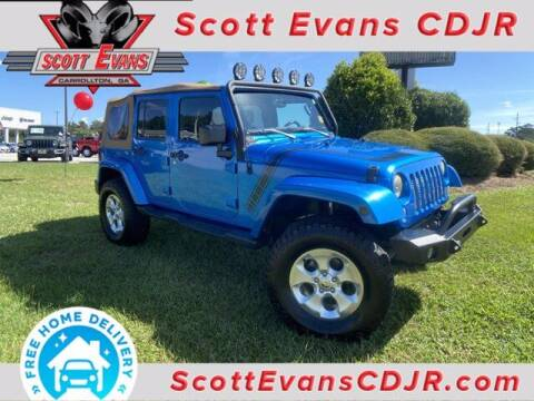 2015 Jeep Wrangler Unlimited for sale at SCOTT EVANS CHRYSLER DODGE in Carrollton GA