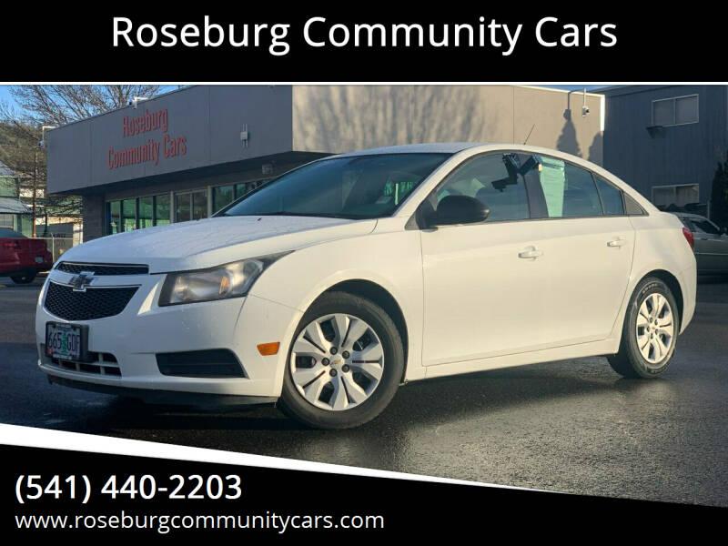 2013 Chevrolet Cruze for sale at Roseburg Community Cars in Roseburg OR