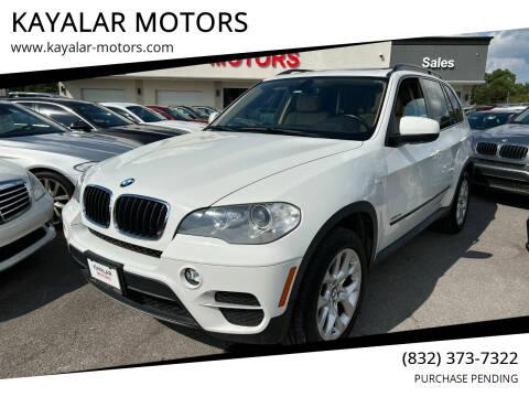 2012 BMW X5 for sale at KAYALAR MOTORS in Houston TX