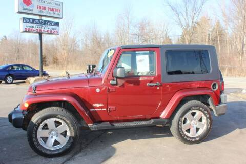 2009 Jeep Wrangler for sale at D & B Auto Sales LLC in Washington Township MI