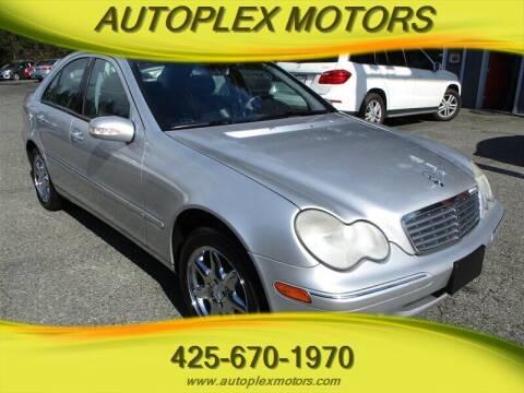 2002 Mercedes-Benz C-Class for sale at Autoplex Motors in Lynnwood WA