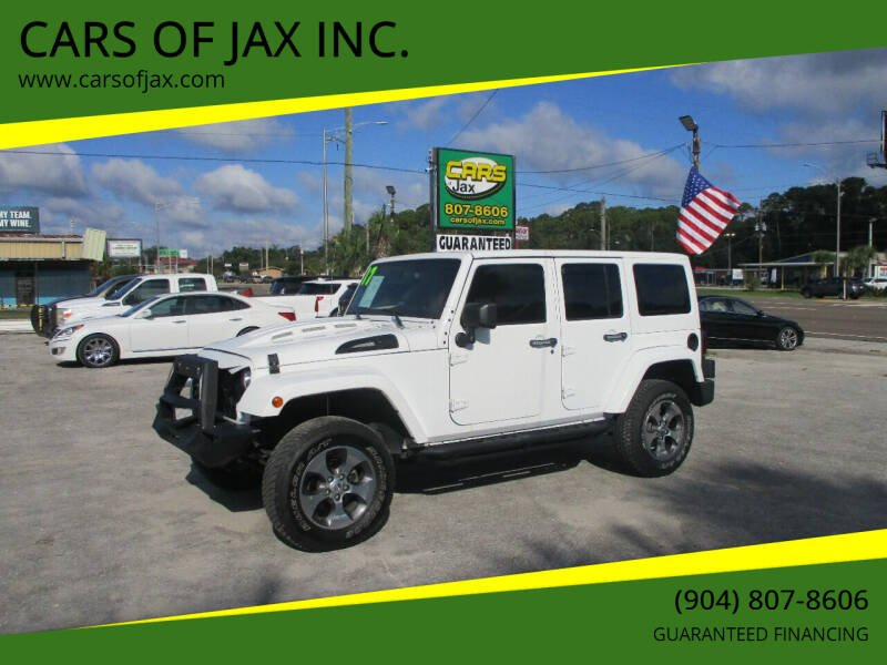 2017 Jeep Wrangler Unlimited for sale at CARS OF JAX INC. in Jacksonville FL