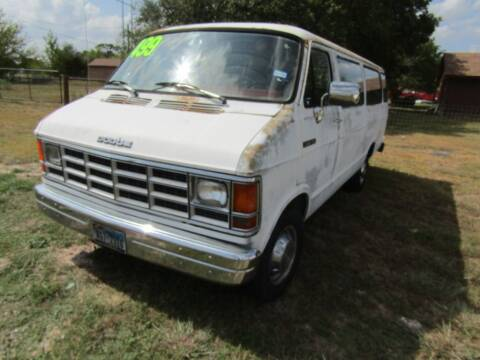 1992 Dodge Ram Wagon for sale at Hill Top Sales in Brenham TX