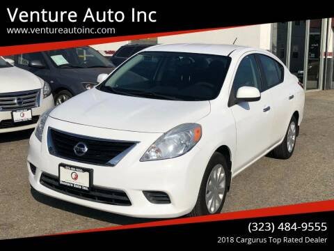 2012 Nissan Versa for sale at Venture Auto Inc in South Gate CA