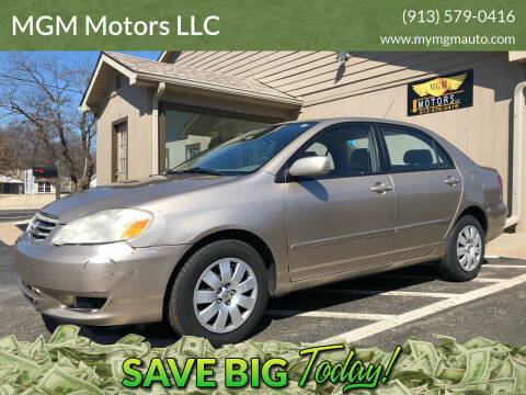 2004 Toyota Corolla for sale at MGM Motors LLC in De Soto KS